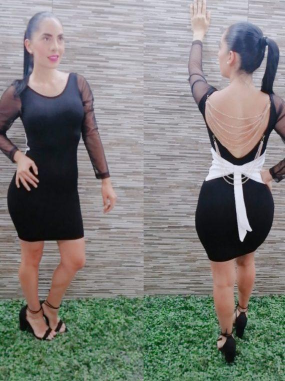 vestido sexy con moño fiesta psweetp
